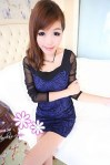 SP 14892 - blue @ Rp. 80 rb, soft cotton, lace