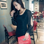 SV 3444 - black @ Rp. 73 rb, Cotton hemp, chiffon