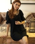 SV 3455 - black @ Rp. 73 rb, bahan cotton plush